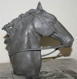 ceramic horse head sculpture, clay sculpture demo, horse sculpture tutorial