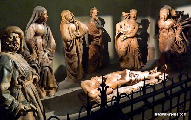 """A Lamentação sobre o Cristo Morto"", esculturas de Niccolò dell'Arca, Bolonha, Itália"