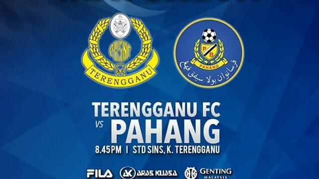 Live Streaming Terengganu vs Pahang 15.1.2018 MB Terengganu Cup