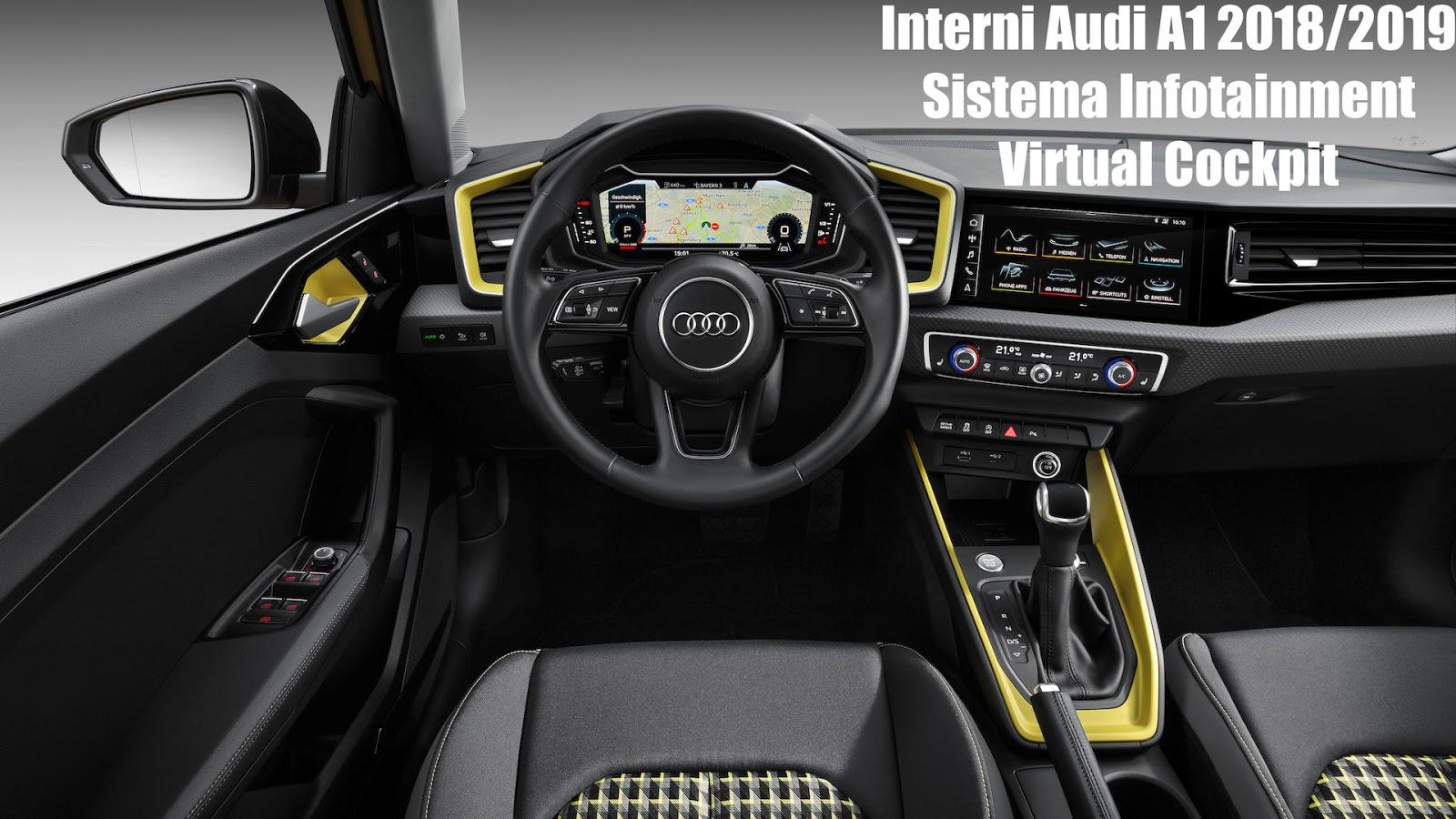 interni audi ai 2019, infotainment e virtual cockpit digitale