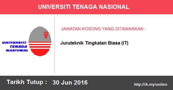 Jawatan Kosong di Universiti Tenaga Nasional (UNITEN)