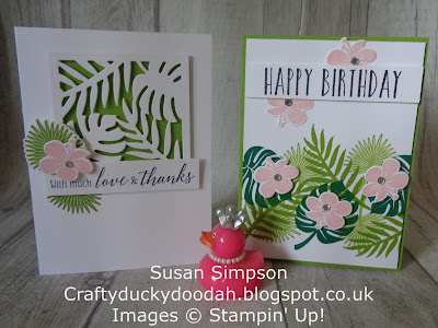 #lovemyjob, #stampinupuk, Craftyduckydoodah!, July 2018 Coffee & Cards Project, Stampin' Up! UK Independent  Demonstrator Susan Simpson, Supplies available 24/7 from my online store, Tropical Chic,