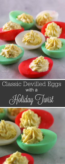 CLASSIC DEVILLED EGGS RECIPE WITH A HOLIDAY TWIST