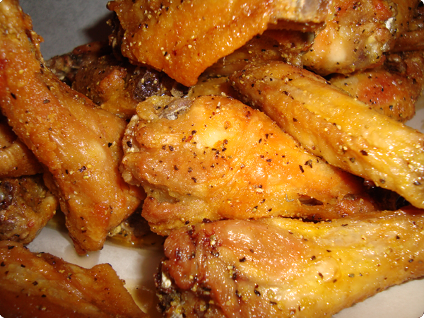 WINGSTOP COPY CAT LEMON GARLIC PEPPER WINGS  RECIPE