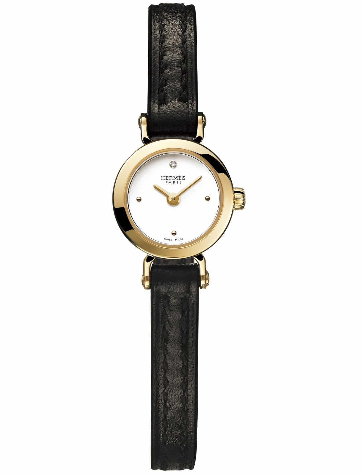Hermès Faubourg watch gold case