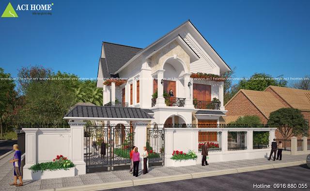 Kiến trúc thiết kế biệt thự 2 tầng Á Đông