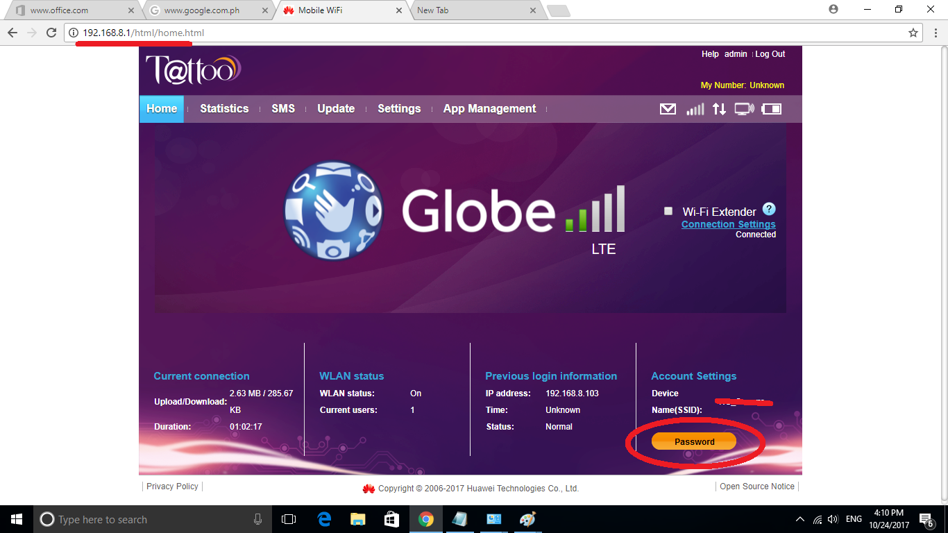 How To Change Wifi Password and Wifi Name | Globe LTE (4G