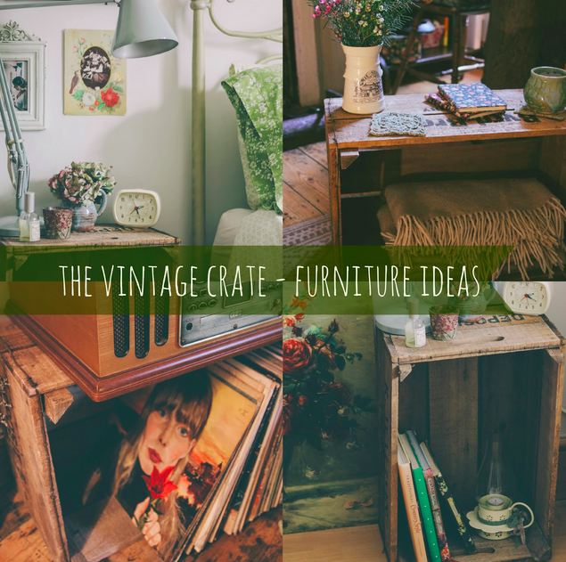 Vintage crate furniture ideas