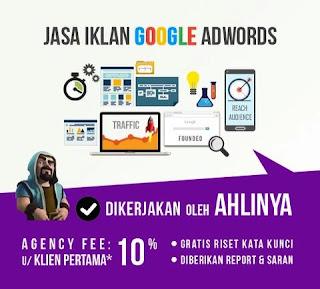 Jasa Iklan Google Adwords Untuk Situs Agen Judi Slot Online