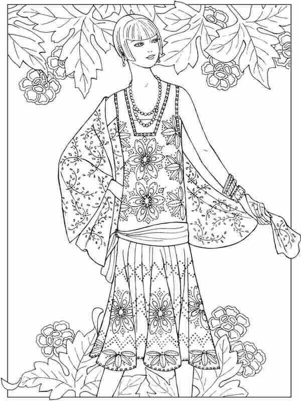 Adult Realistic Girl Coloring Pages