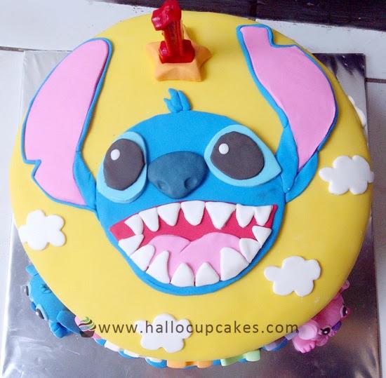 Hallo Cupcakes Stitch Cake