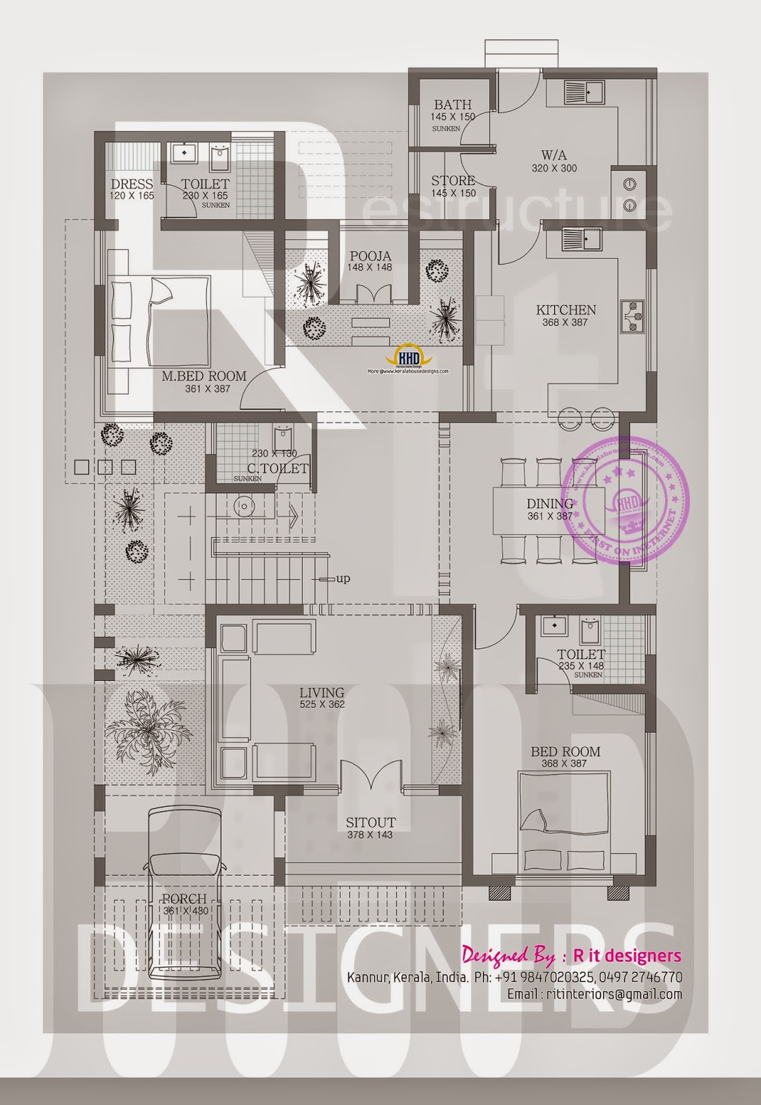 Stylish trendy house plan kerala home design and floor plans for Trendy house plans