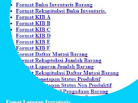 Format Inventaris Barang KIB Disertai Contohnya