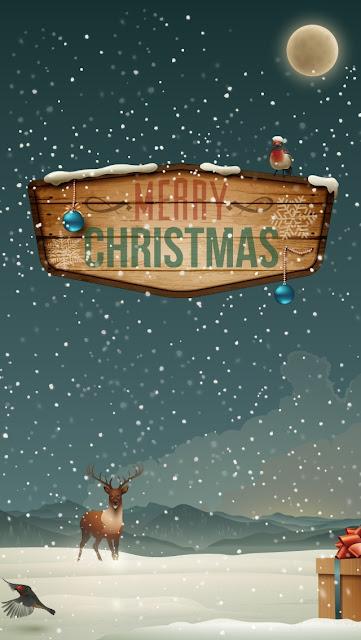 Merry Christmas Raindeer Presents iPhone 5 Wallpaper free download
