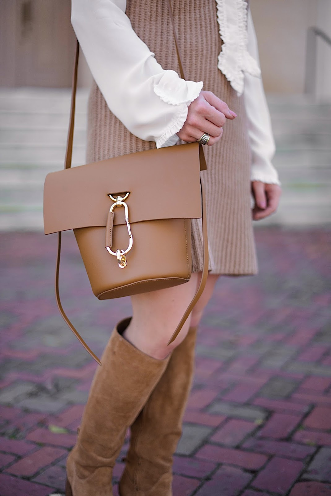 ZAC Zac Posen Belay Leather Crossbody Bag - Fall Fashion on Something Delightful Blog