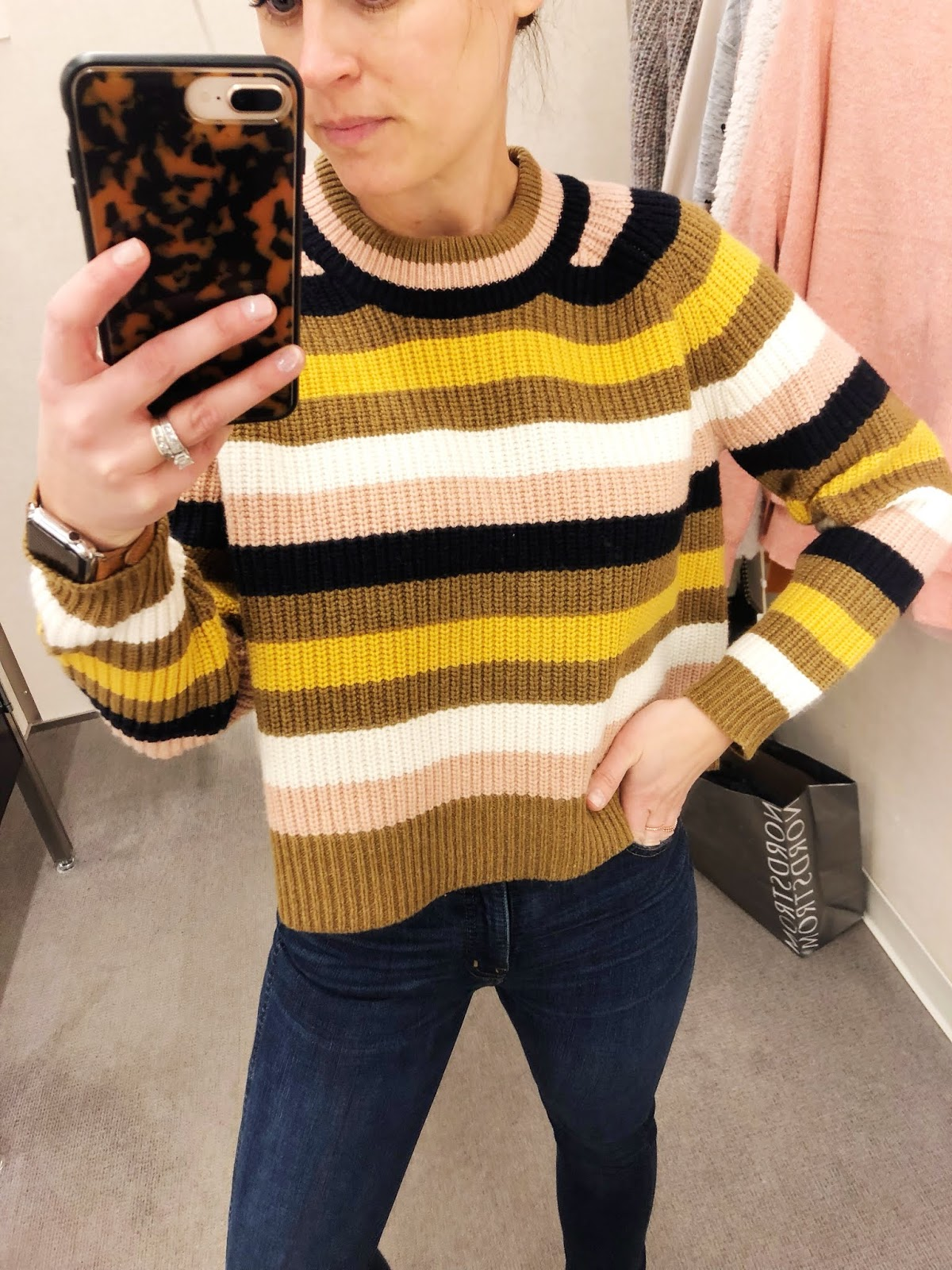 2dae8b6ec26 above  Okay now that I see this sweater again I am KICKING myself for not  buying it. I love the slightly cropped and boxy fit with high waisted  skinny jeans ...