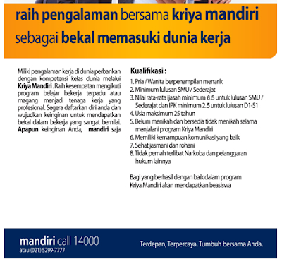 Daftar Lowongan Kerja Bank Mandiri Probolinggo Terbaru 2020