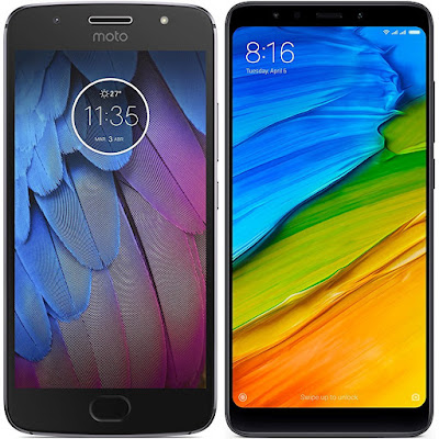 Motorola Moto G5s vs Xiaomi Redmi 5 32G