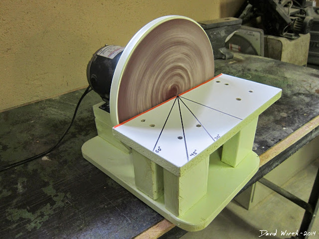 fix an unbalanced disc sander