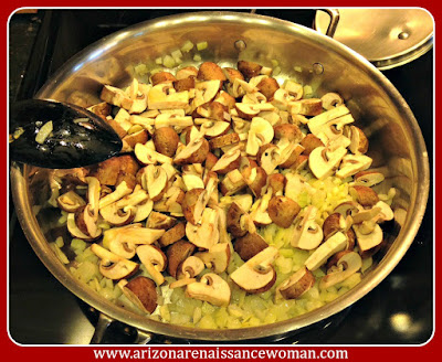 Mushroom Filling for Cilantro Green Chile Mushroom Tacos