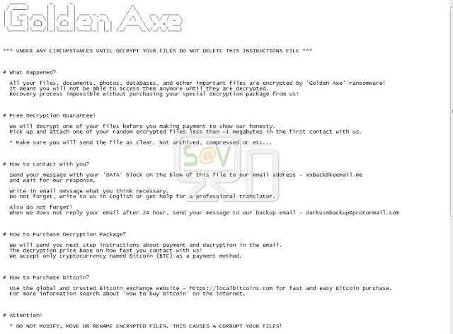 Golden Axe (Ransowmare)
