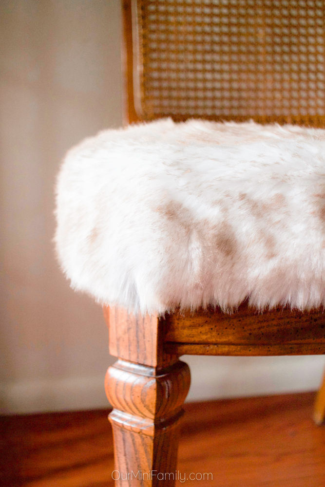 My 8 Faux Fur Thrift Store Dining Chairs Our Mini Family