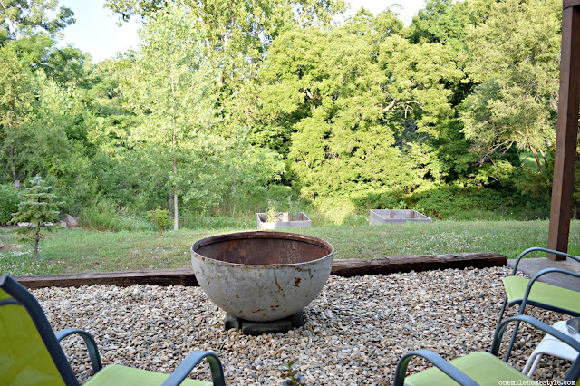 Turn A Boring Backyard into a Fantastic DIY Outdoor Entertaining Space With a Fire Pit - One Mile Home Style