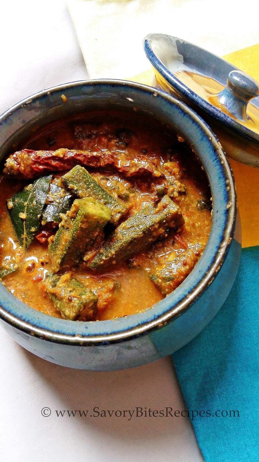 Masala BHindi Ladyfinger Okra curry Indian Gravy