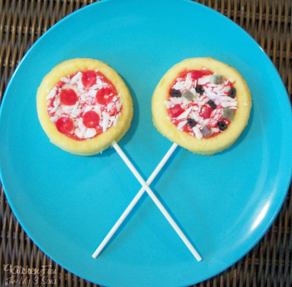 Pizza Cake Pops Kitchen Fun With My 3 Sons