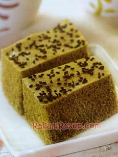 Resep Cake Green Tea Kukus Wijen