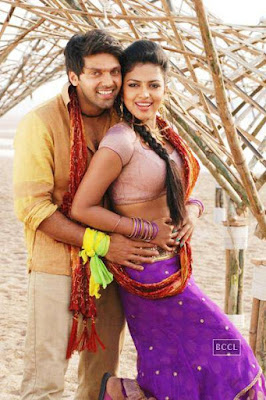 Arya pressing Amala Paul's Sexy belly Images