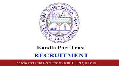 Kandla Port Trust Recruitment 2018 09 Clerk, JE Posts