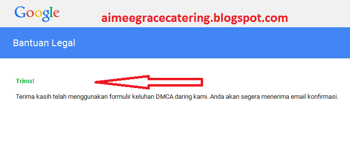 Blogger Google DMCA Takedown
