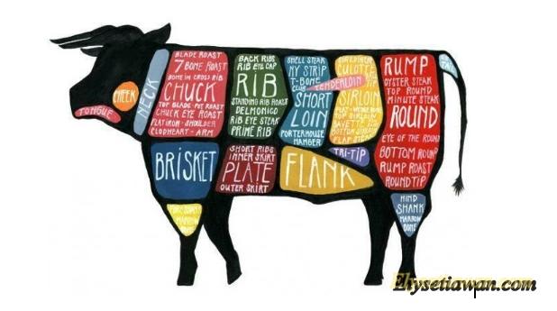 gambar bagian bagian daging sapi