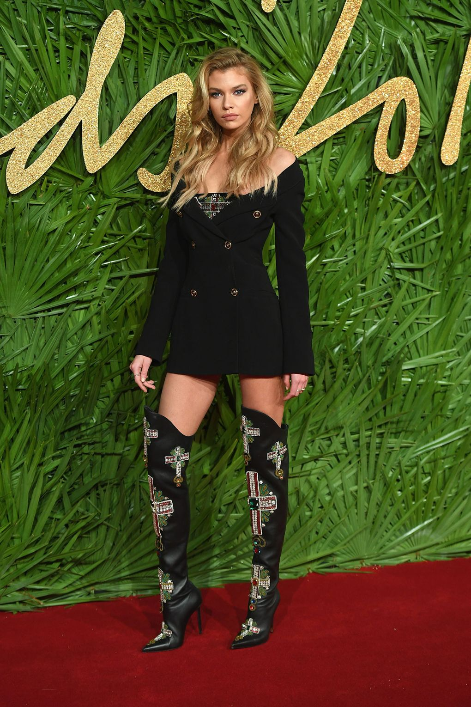 Stella Maxwell in Versace