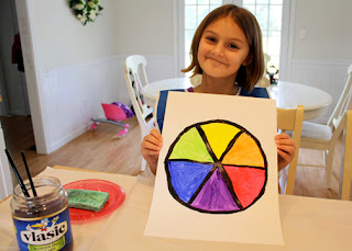 Tessa's completed color wheel.