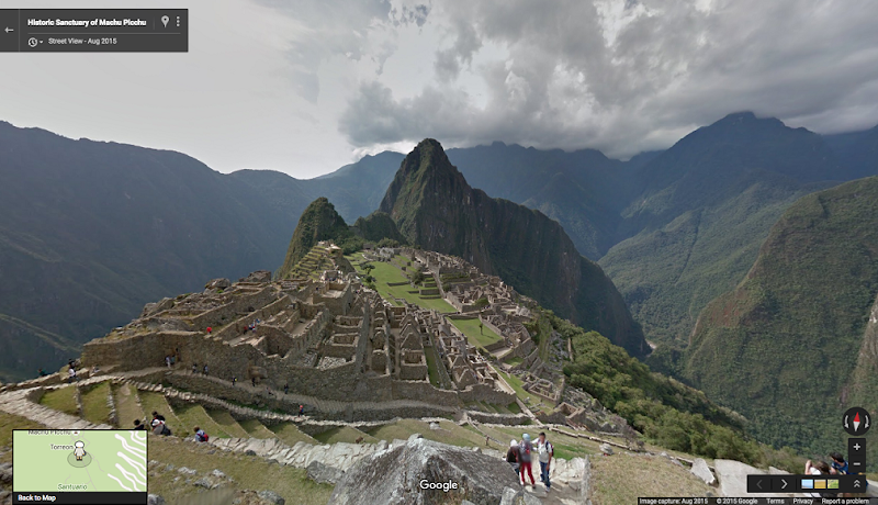 Walk the ruins of Machu Picchu on Google Street View