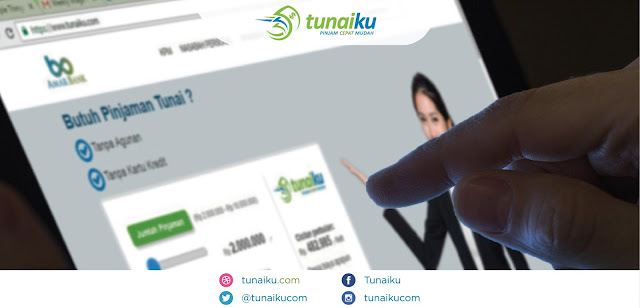 Pinjaman KTA tanpa Kartu Kredit online di Tunaiku