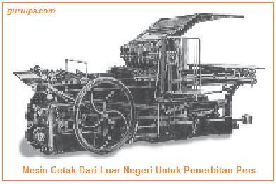 Mesin cetak surat kabar (pers) dari luar negeri