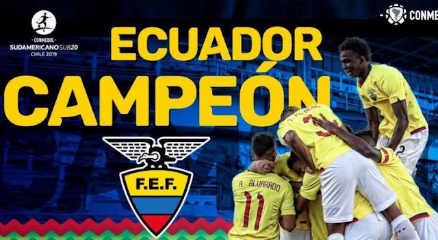 Ecuador, campeón Sudamericano Sub 20 de fútbol
