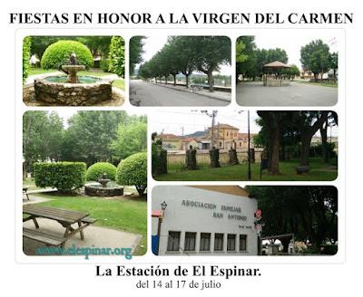 FIESTAS EN HONOR A LA VIRGEN DEL CARMEN La Estación de El Espinar.