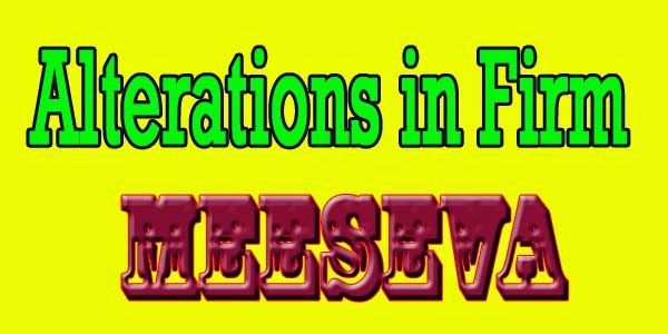 Alterations in Firm Apply Meeseva Apply meeseva