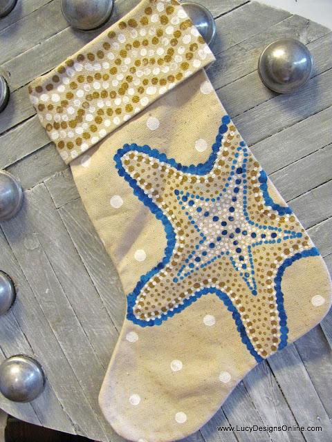 starfish Christmas stocking