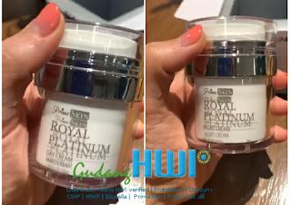 Prime Skin Royal Platinum HWI Night Cream dan Day Cream with UV Filter