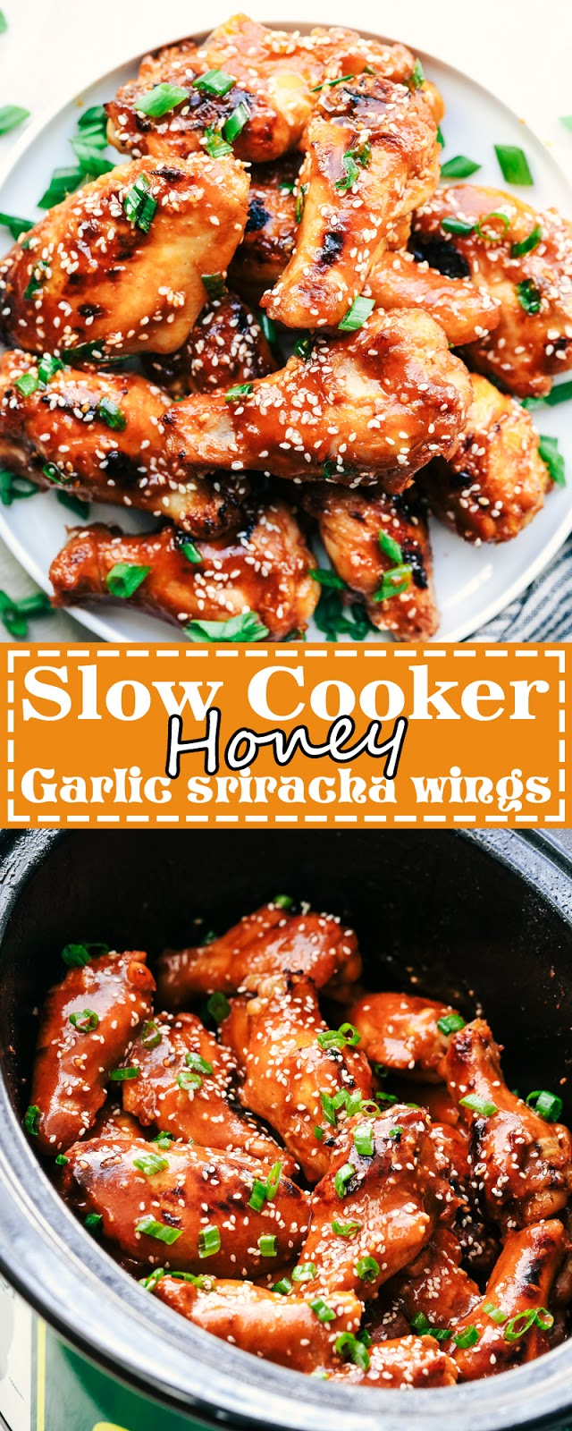 SLOW COOKER HONEY GARLIC SRIRACHA WINGS