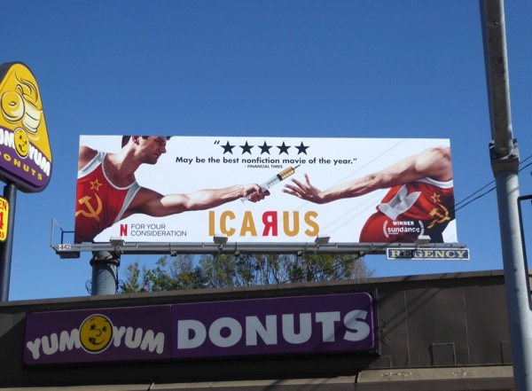 Icarus Golden Globes FYC billboard