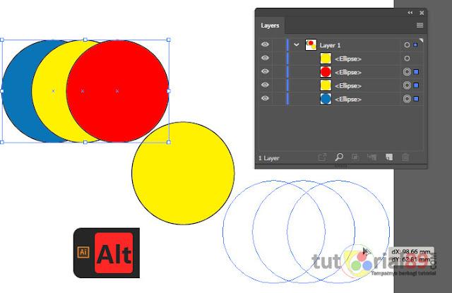 4 trik dasar mengcopy objek di adobe illustrator + video