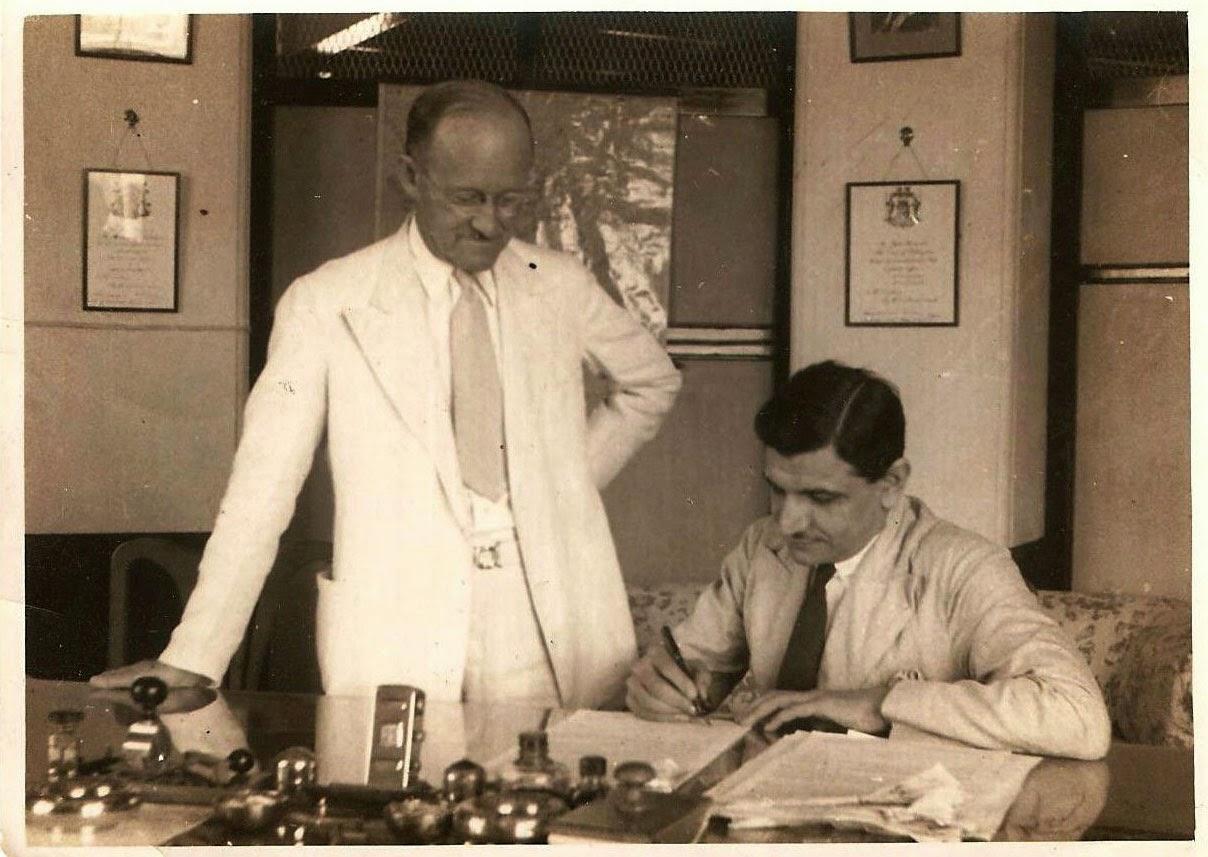 Sohrab Modi Signing a Contract - 1937