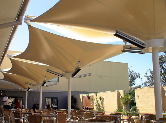 payung kafe membrane awning