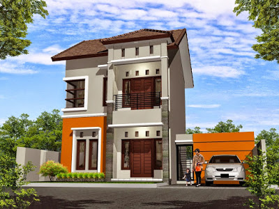 Desain Rumah Minimalis 2 Lantai Type 36 Kami